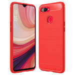 Flexi Slim Carbon Fibre Case for Oppo AX7 - Brushed Red